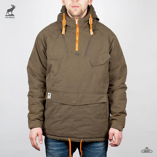 Куртка FAT MOOSE Sailor Anorak (Army-Orange, XL) fat moose ветровка fat moose модель 280200559