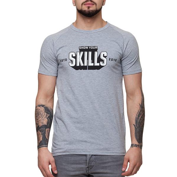 Футболка SKILLS 3D raglan (Grey Melange, L) футболка skills 3d raglan grey melange xs