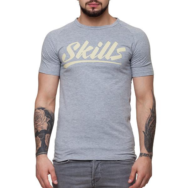 Футболка SKILLS Script Logo 4 raglan (Grey Melange, L) футболка skills 3d raglan grey melange xs
