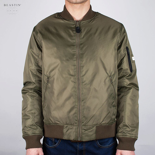 Куртка BEASTIN Flight Jacket (Military-Green-Combat-Orange, M)
