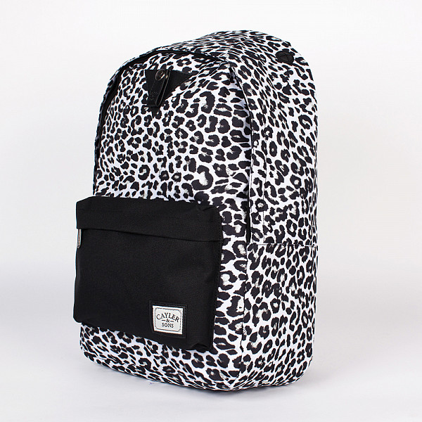fiorelli fh7969 black leo Рюкзак CAYLER & SONS Snow Leo Downtown Backpack (Snow-Leopard-Black-Black)