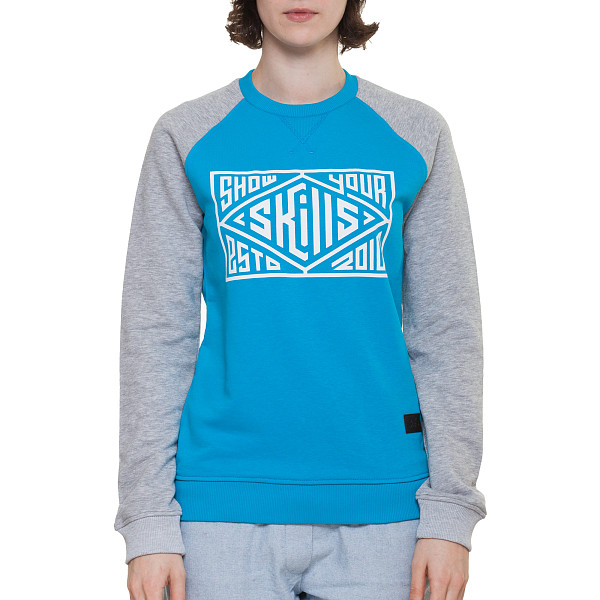 Толстовка SKILLS W Quad Сrewneck (Turquoise/Grey Melange, XS) free shipping xc3020 100pc68c new original and goods in stock