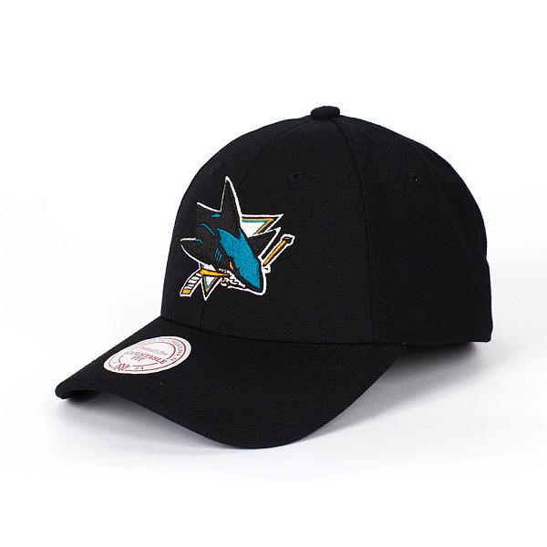 Бейсболка MITCHELL&NESS San Jose Sharks Snapback (Black, O/S)