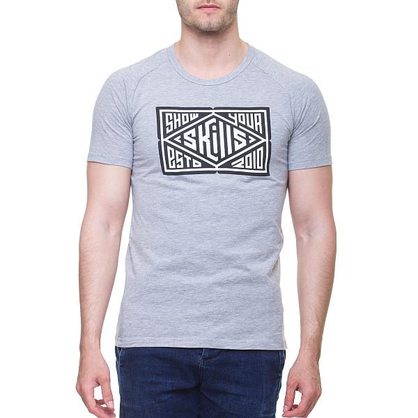 Футболка SKILLS Quad (Grey Melange, XL) футболка skills 3d raglan grey melange xs