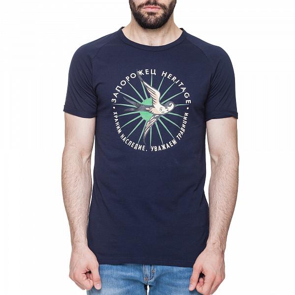 Футболка ЗАПОРОЖЕЦ Ласточка (Синий, XL) запорожец футболка запорожец ласточка