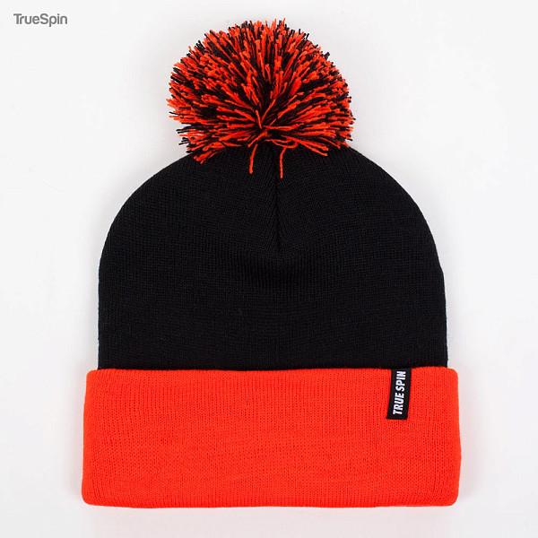 Шапка TRUESPIN Neon Pom 2 Tone (Black-Orange) patons fab big neon orange 8279