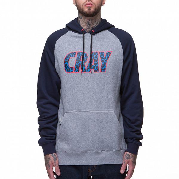 Толстовка CAYLER & SONS Cray Raglan Hoody (Grey-Heather-Navy-Blue-Leopard, L)