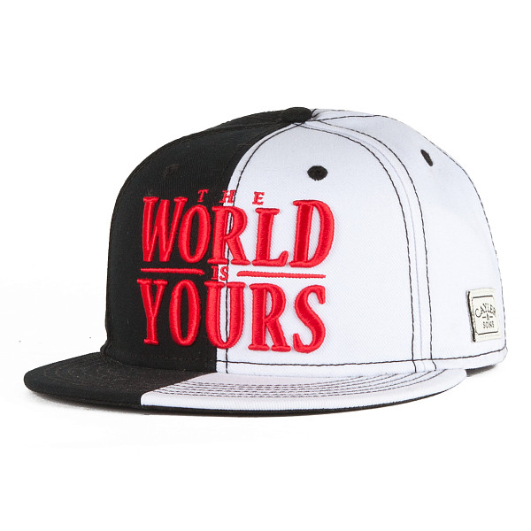 Бейсболка CAYLER & SONS The World Is Yours Cap (Black/White/Red, O/S) the world is flat
