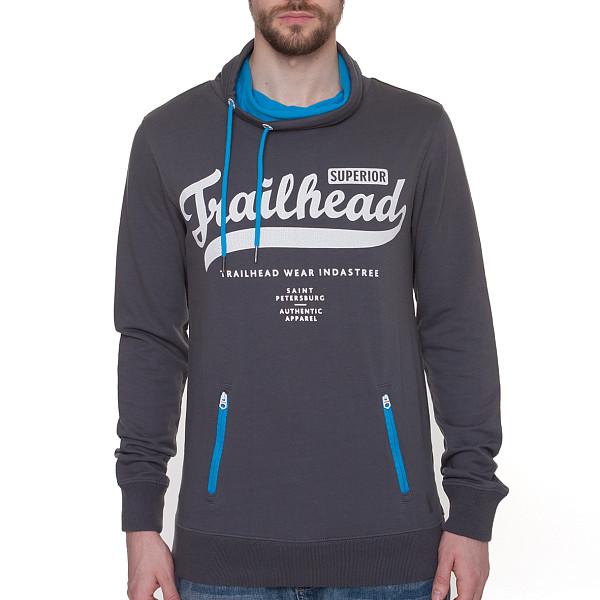 Толстовка TRAILHEAD Old Logo (Dark Grey, S) trailhead футболка trailhead mts 276 no bitches no problem grey