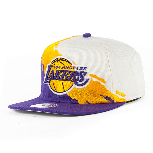 Бейсболка MITCHELL&NESS Los Angeles Lakers NG77Z (White/Purple, O/S) баскетбольную форму lakers