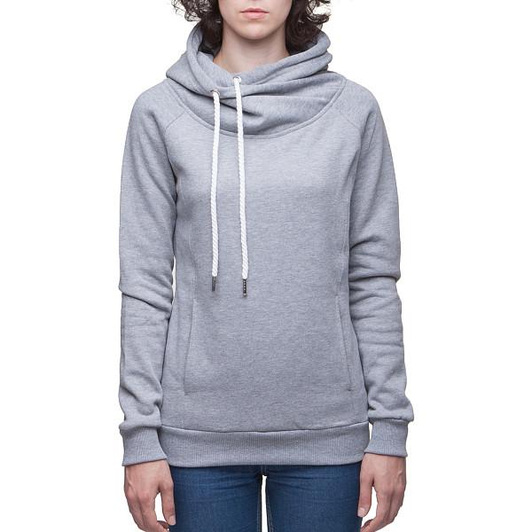 Толстовка URBAN CLASSICS Ladies Raglan High Neck Hoody (Grey, XS)