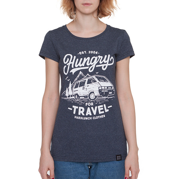 Футболка HARDLUNCH Travel F16/1 женская (Indigo Melange, M)