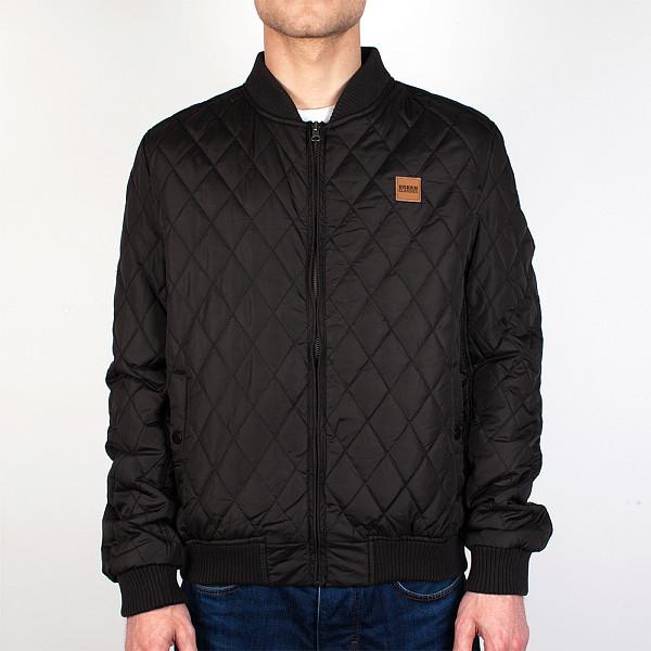 Куртка URBAN CLASSICS Diamond Quilt Nylon Jacket (Black, XL) tutis коляска 3 в1 mimi plus tutis белая рама серый лен белый белый горох