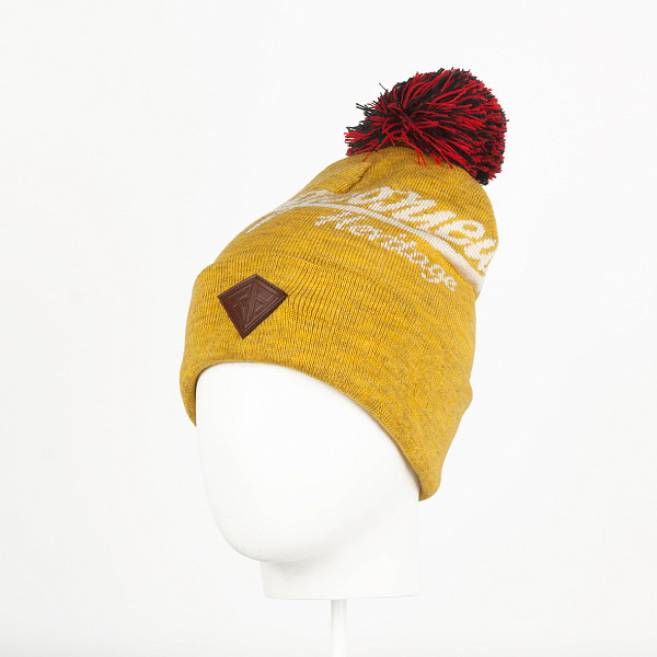 Шапка ЗАПОРОЖЕЦ Zap Classic Logo Beanie (Yellow Melange/Beige) шапка запорожец zap classic logo sky brown yellow