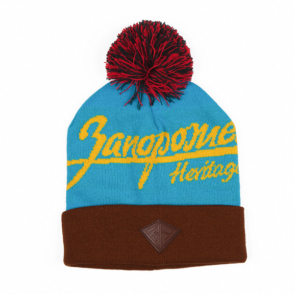 Шапка ЗАПОРОЖЕЦ Zap Classic Logo Beanie (Sky/Brown/Yellow) шапка запорожец zap classic logo sky brown yellow