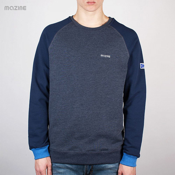 Толстовка MAZINE Male Basic Crewneck (Navy-Navy-Mel, S) michael kors new navy blue women s size xs studded hi low crewneck sweater $130