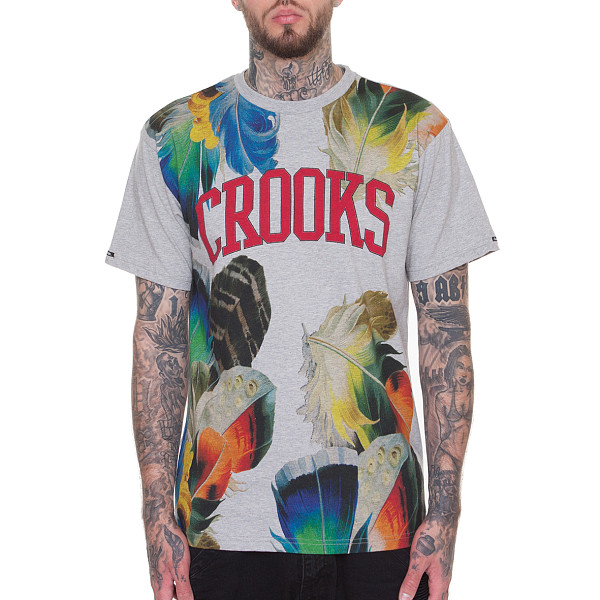 Футболка CROOKS & CASTLES Crooks Floral (Heather Grey, L) футболка revolution mono tee floral grey l