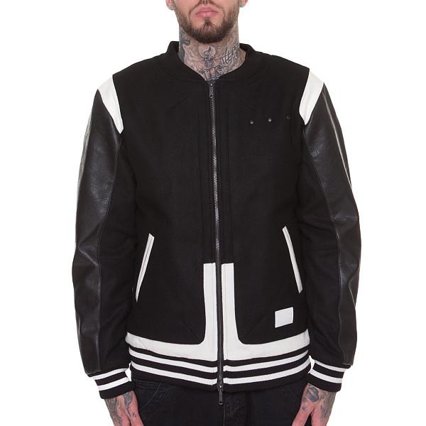 Куртка CROOKS & CASTLES Challenger Varsity Jacket (Black-White, L) challenger alpina 16 white pink