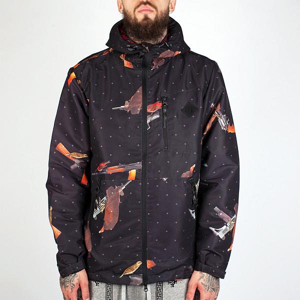 Ветровка CROOKS & CASTLES Bird Trap Anorak Jacket (Black, L) front light