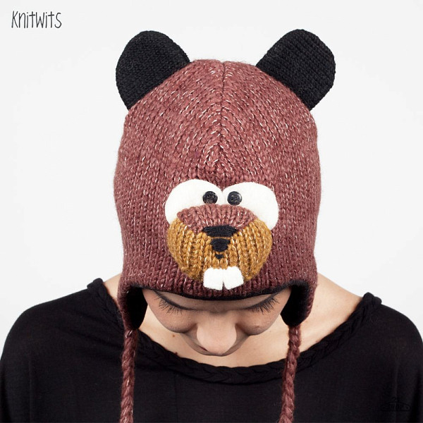 Шапка KNITWITS Barkley The Beaver (Brown) the flying beaver brothers and the hot air baboons