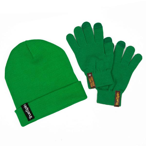 Пак TRUESPIN шапка + перчатки (Green) перчатки truespin touchgloves sand