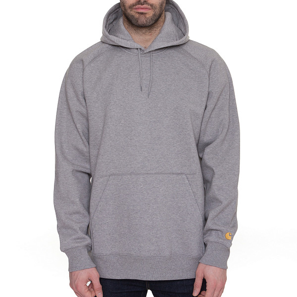 Толстовка CARHARTT Hooded Chase Sweat (Heather Grey/Gold, XL)