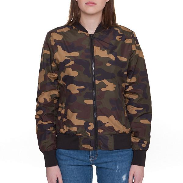 Куртка URBAN CLASSICS Ladies Light Bomber Jacket Camo женская (Wood Camo, L) юбка женская camo flowers
