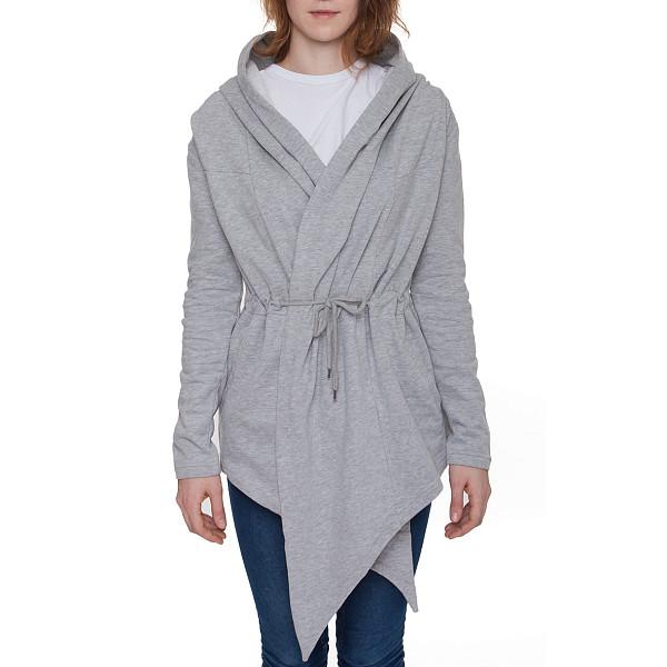 цена  Кардиган URBAN CLASSICS Ladies Hooded Sweat Cardigan (Grey, L)  онлайн в 2017 году
