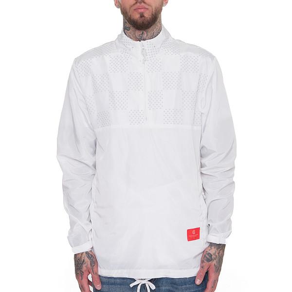 рубашка беговая bjorn daehlie half zip pure Анорак CROOKS & CASTLES Chequered Half-Zip Anorak Windbreaker (White, L)