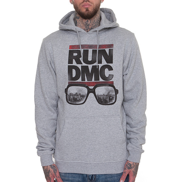 Толстовка MISTER TEE RUN DMC City Glasses Hoody (Heather Grey, XL) watching tv film and television entertainment tv enlarge glasses reading glasses concert telescope fishing glasses