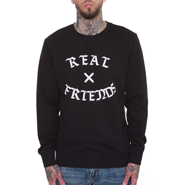 Толстовка MISTER TEE Real Friends Crewneck (Black, XS)