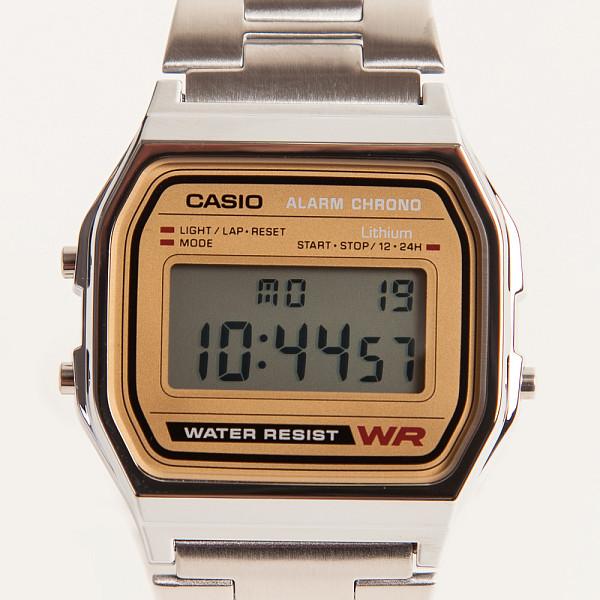 Часы CASIO A-158WEA-9E 587/593 (Хром/Золотой-9E) a 500wega 9e