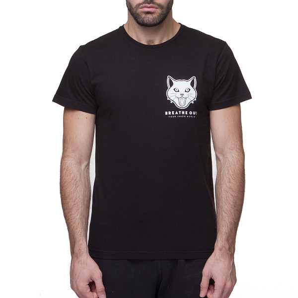 Футболка BREATHE OUT Reaper Cat T-Shirt (Черный, L) купить