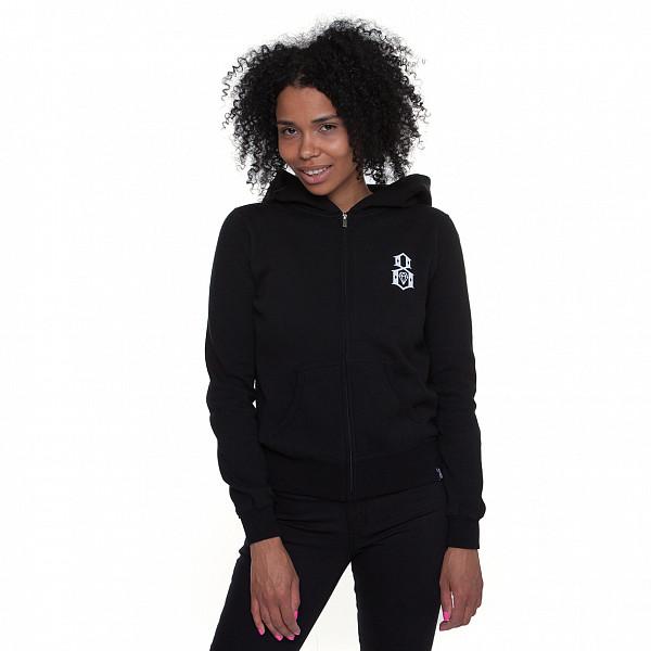 Толстовка REBEL8 Logo Zip Hoodie женская (Black, L) rebel star hoodie