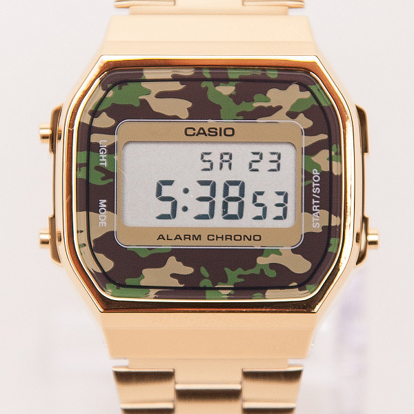 Часы CASIO A-168WEGC-3E 1275/3298 (Золотой/Зеленый) casio часы casio a 168wegc 3e