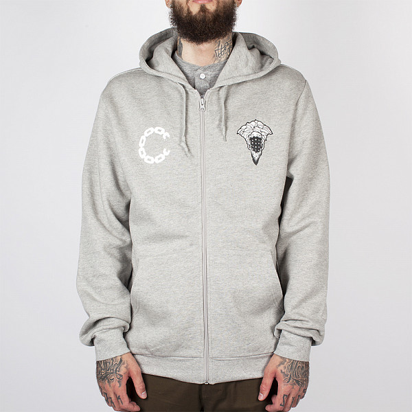 Толстовка CROOKS & CASTLES Advisory Zip Hood (Heather Grey, L)