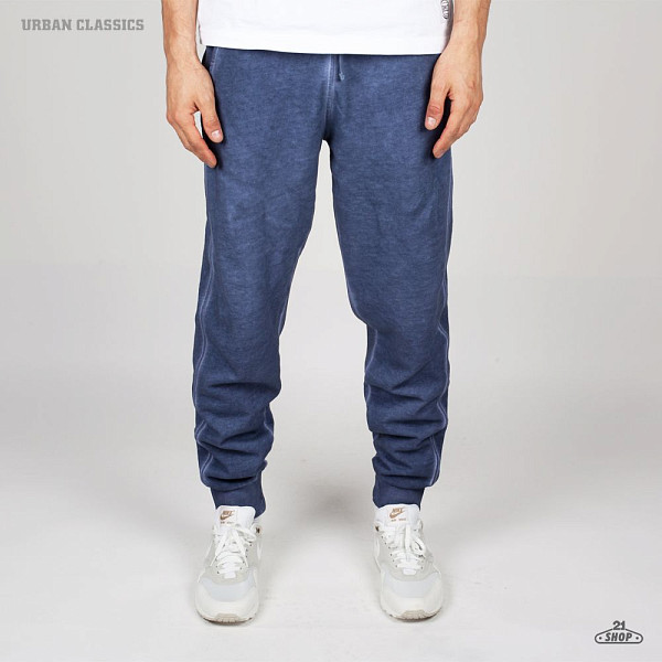 Брюки URBAN CLASSICS Spray Dye Sweatpants (Denim-Blue, L)  брюки urban classics spray dye sweatpants sky blue s