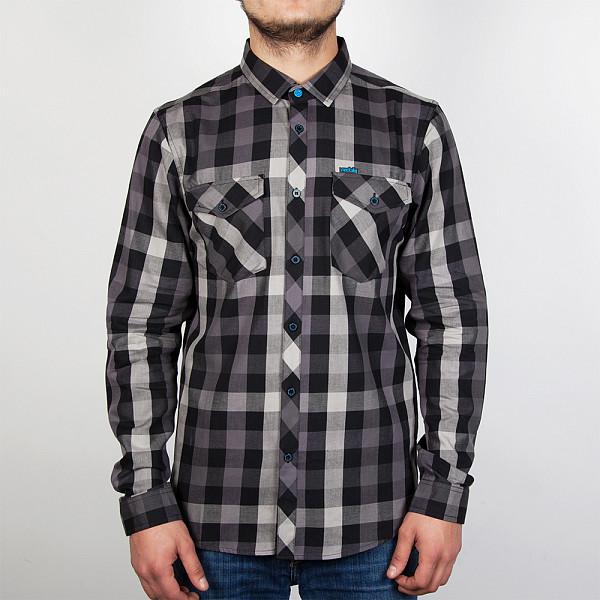 рубашка iriedaily valle bamboo ls shirt mintgrey 462 xl Рубашка IRIEDAILY Valle LS Shirt (Black-700, XL)