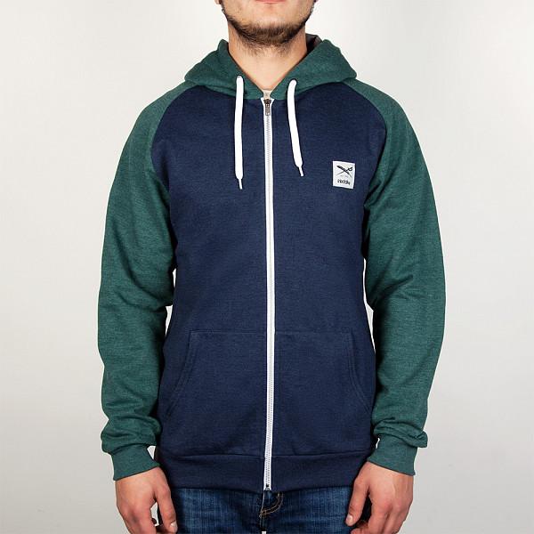 Толстовка IRIEDAILY De College Zip Hood (Green Blue-420, M) college college 420 1c 1b