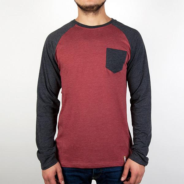 рубашка iriedaily valle bamboo ls shirt mintgrey 462 xl Лонгслив IRIEDAILY Baseball Pocket LS (Anthra Red-722, L)