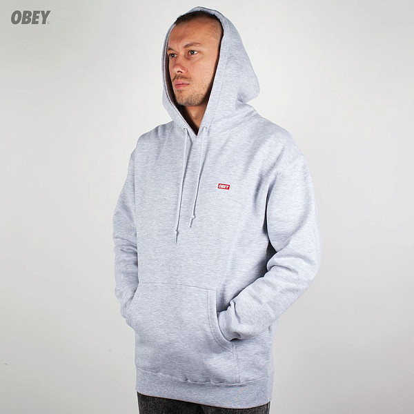 Толстовка OBEY Bar Logo Pullover (Heather Grey, XL) reigning champ gym logo ss tee heather grey