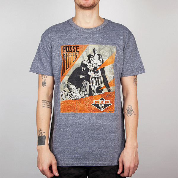 Футболка OBEY Rip Mca 2 (Heather Grey, S) pepe jeans pm503594 203