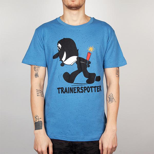 Футболка TRAINERSPOTTER Felix Dynamite T-shirt (Blue Marl-B, XS) футболка trainerspotter chilax t shirt black a xl