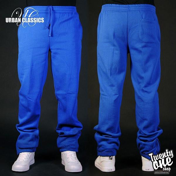 Брюки URBAN CLASSICS Relaxed Sweatpants (Royal, S)  брюки urban classics spray dye sweatpants sky blue s