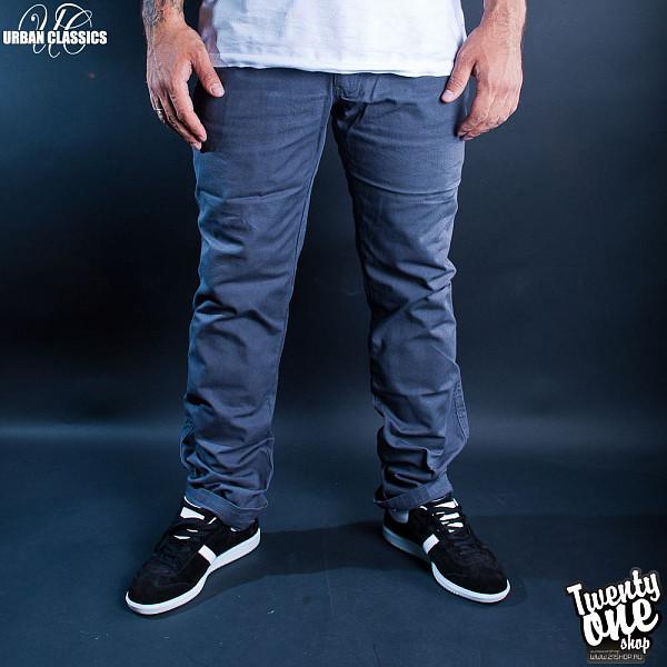 Брюки URBAN CLASSICS 5 Pocket Pants (Dark-Grey, 34) inc women s multi pocket glow pants 16w sky grey