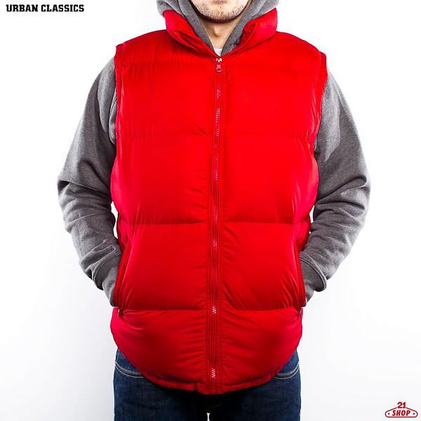 Жилет URBAN CLASSICS Basic Bubble Vest (Red, S)  брюки urban classics spray dye sweatpants sky blue s