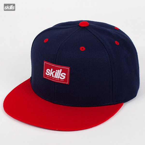 Бейсболка SKILLS Patch Hat (Red-Navy-Red, O/S) us navy uss carl vinson cvn 70 supercarrier 5 inch patch d19