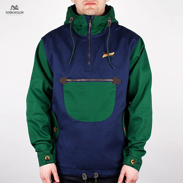 Куртка TURBOKOLOR Freitag Jacket FW13 (Dark-Green-Navy, S) aqua aqualon dark green 100m 0 18mm 13 60kg