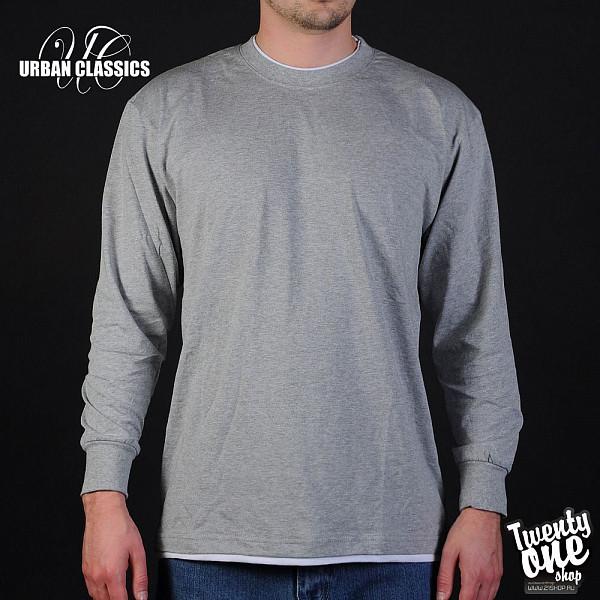 Лонгслив URBAN CLASSICS Contrast Tall Tee L/s (Grey-White, 3XL)