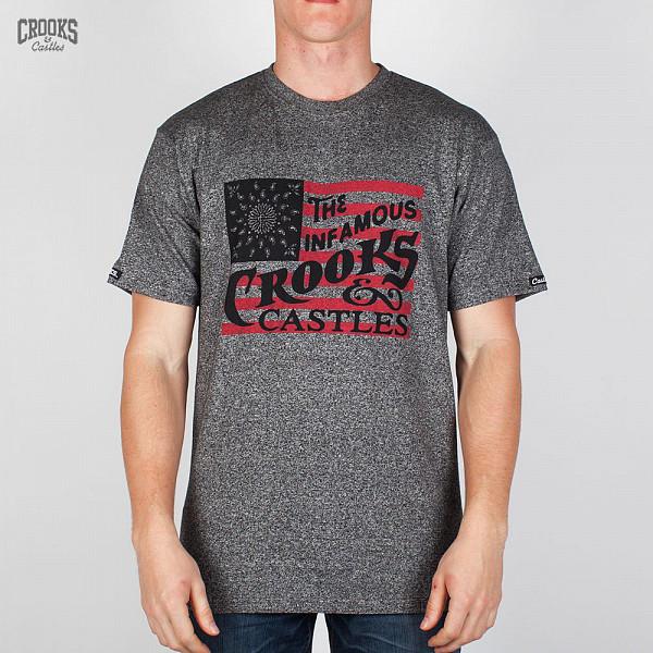 Футболка CROOKS & CASTLES I1360727-4 (Speckle-Black, XL)